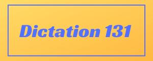 100-wpm-Dictation-No-131