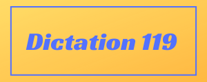 100-wpm-Dictation-No-119